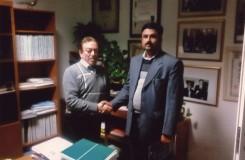 incontro tra Tosoni Giuseppe ed economista deglli Emirati Arabi (Dubai, Kuwait (Safat) e Pakistan (Panjar)